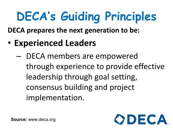 DECA's Guiding Principles