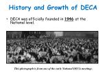 history and growth of deca