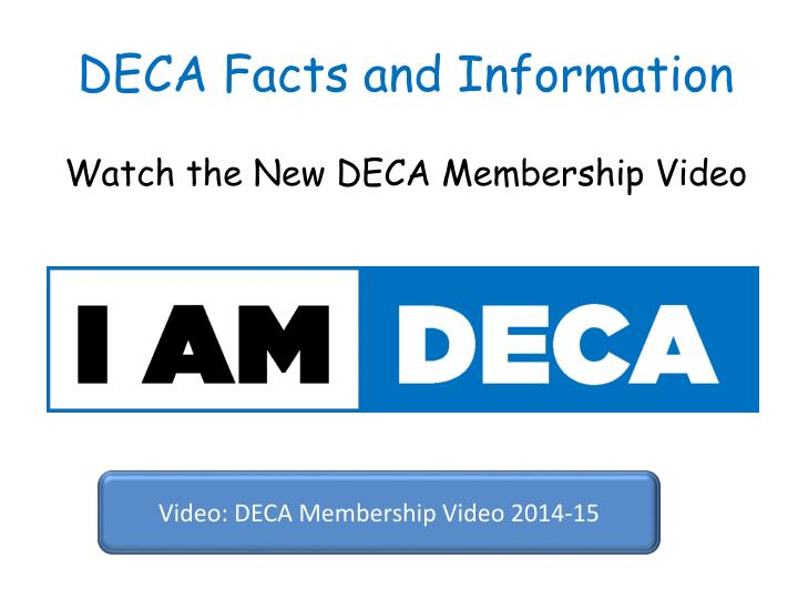 Watch the New DECA Membership Video