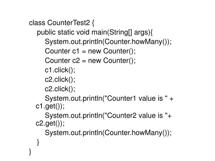 class CounterTest2 {