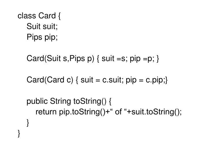 class Card {