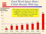 fatal work injury rates climb sharply with age