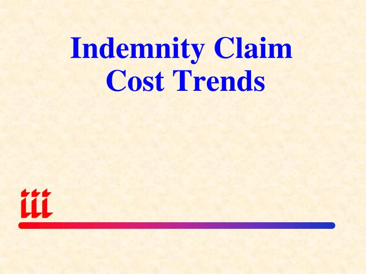 Indemnity Claim