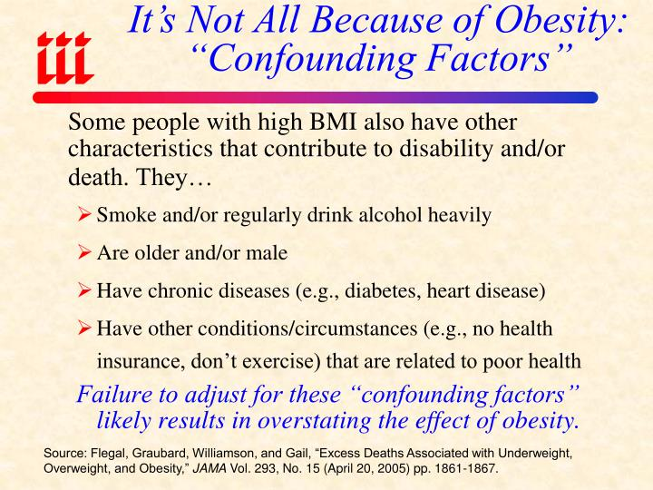 "It's Not All Because of Obesity: ""Confounding Factors"""