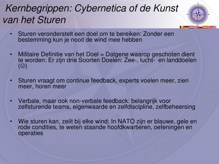 Kernbegrippen: Cybernetica of de Kunst van het Sturen