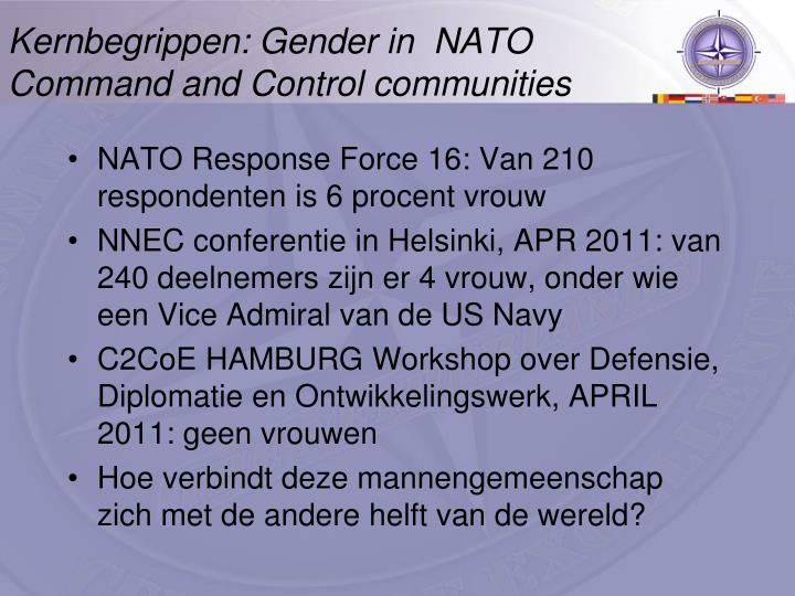 Kernbegrippen: Gender in  NATO Command and Control communities