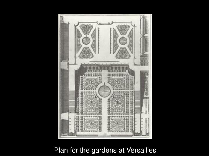 Plan for the gardens at Versailles