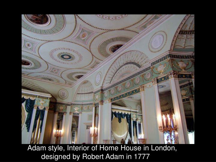 Adam style, Interior of Home House in London,