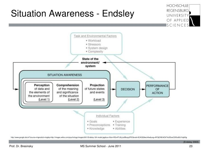 Situation Awareness - Endsley