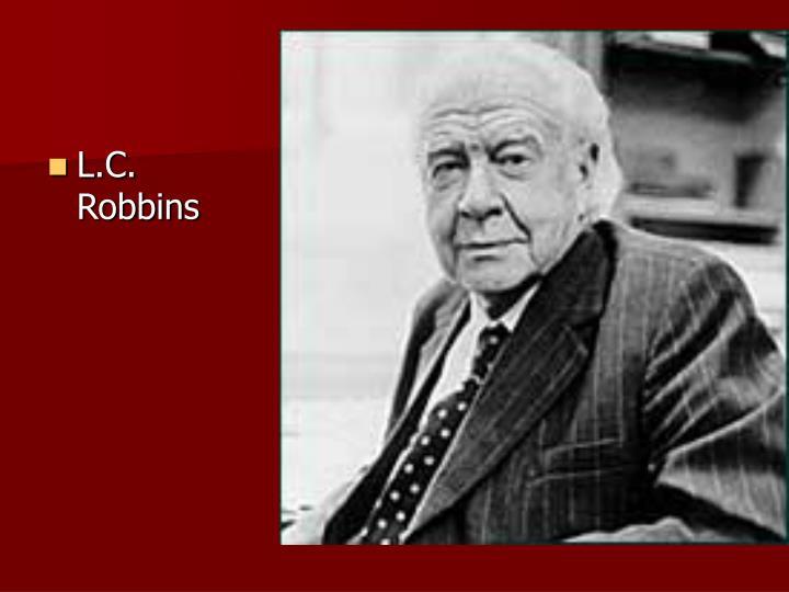 L.C. Robbins