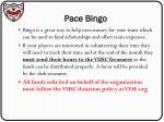 pace bingo