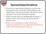 sponsorships donations