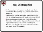 year end reporting
