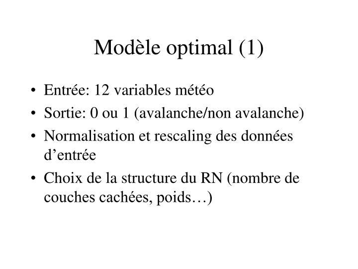 Modèle optimal (1)