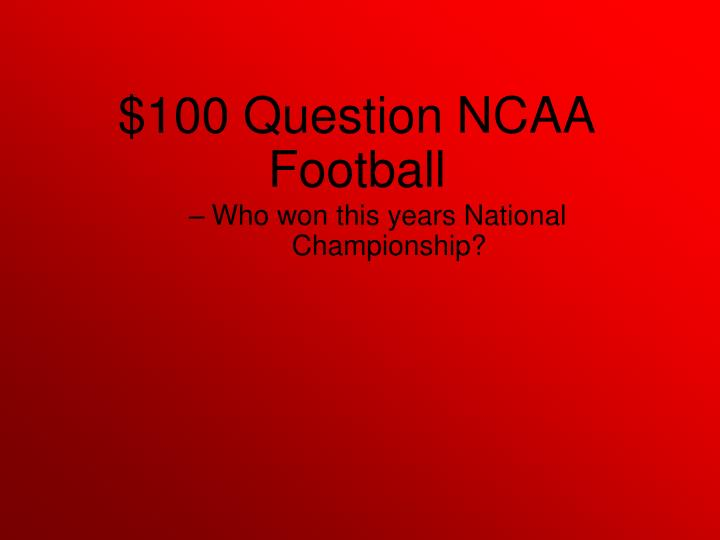 Who won this years National Championship?