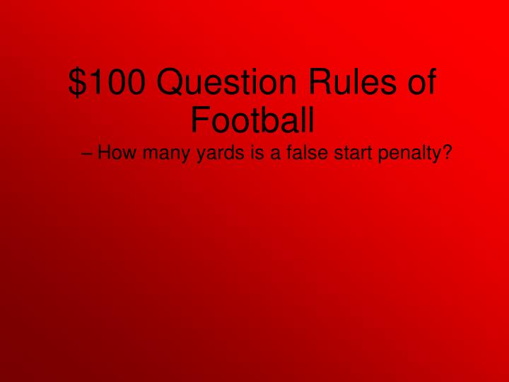 How many yards is a false start penalty?