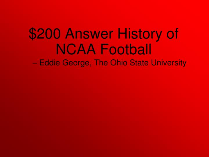 Eddie George, The Ohio State University