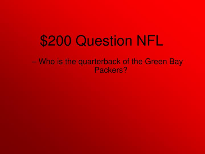 Who is the quarterback of the Green Bay Packers?