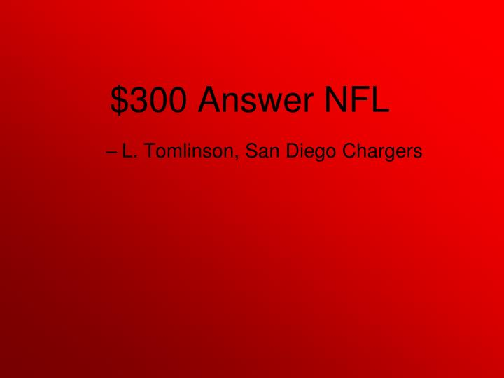 L. Tomlinson, San Diego Chargers