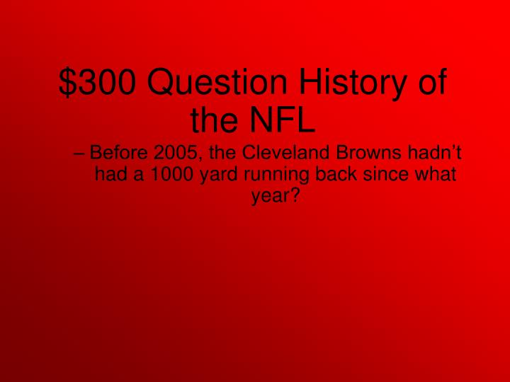 Before 2005, the Cleveland Browns hadn't had a 1000 yard running back since what year?