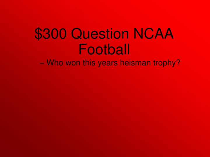 Who won this years heisman trophy?