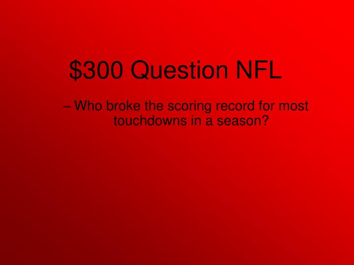 Who broke the scoring record for most touchdowns in a season?