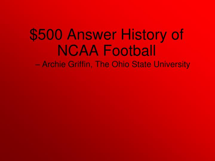 Archie Griffin, The Ohio State University