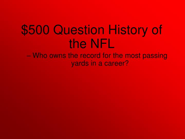 Who owns the record for the most passing yards in a career?