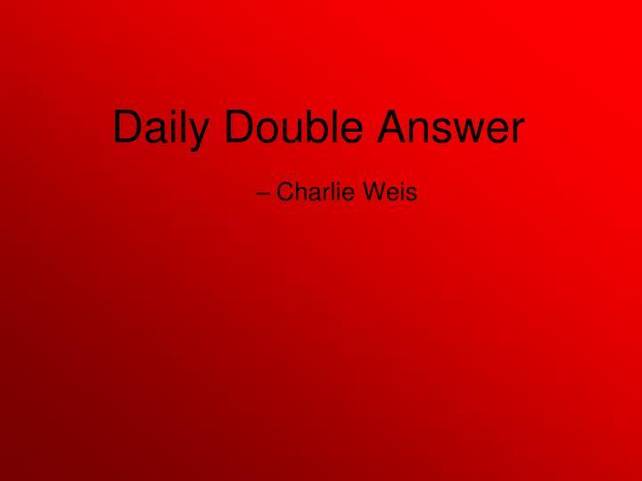 Charlie Weis
