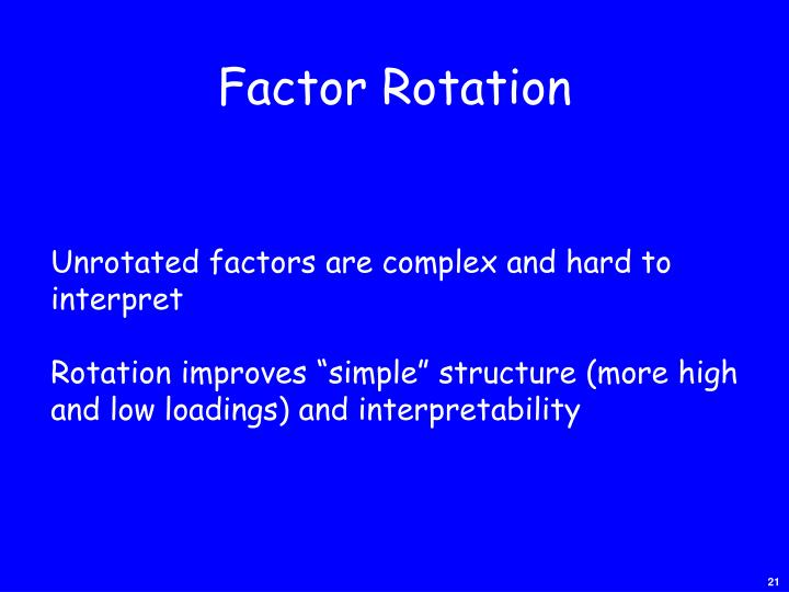 Factor Rotation