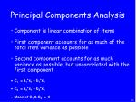 principal components analysis
