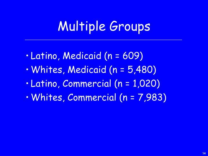 Multiple Groups