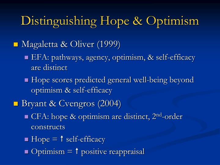 Distinguishing Hope & Optimism