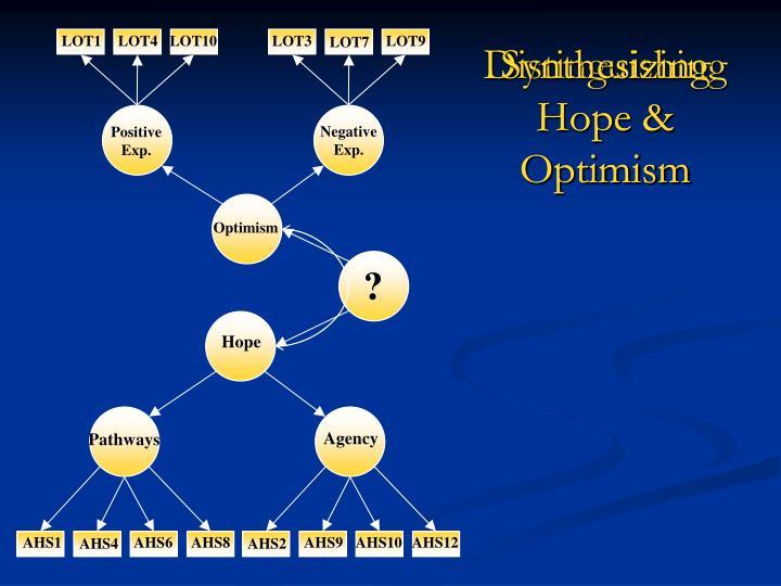 Synthesizing Hope & Optimism