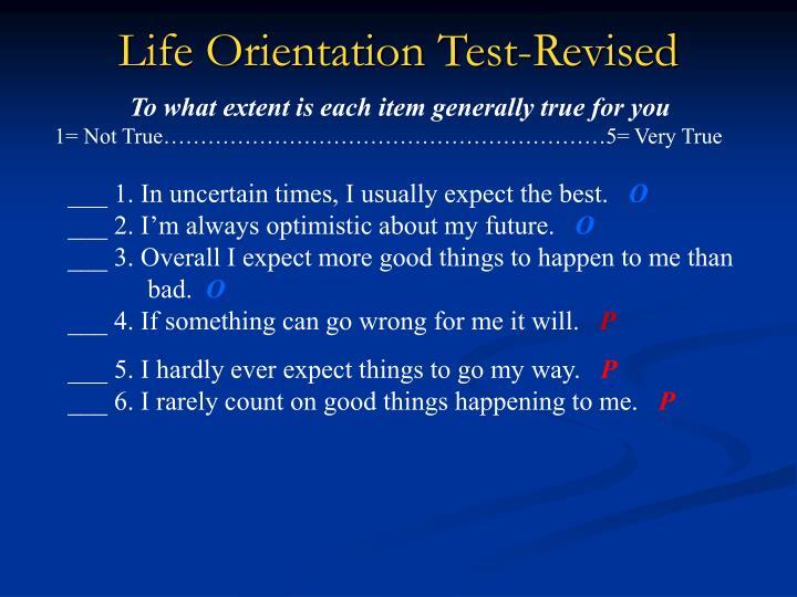 Life Orientation Test-Revised