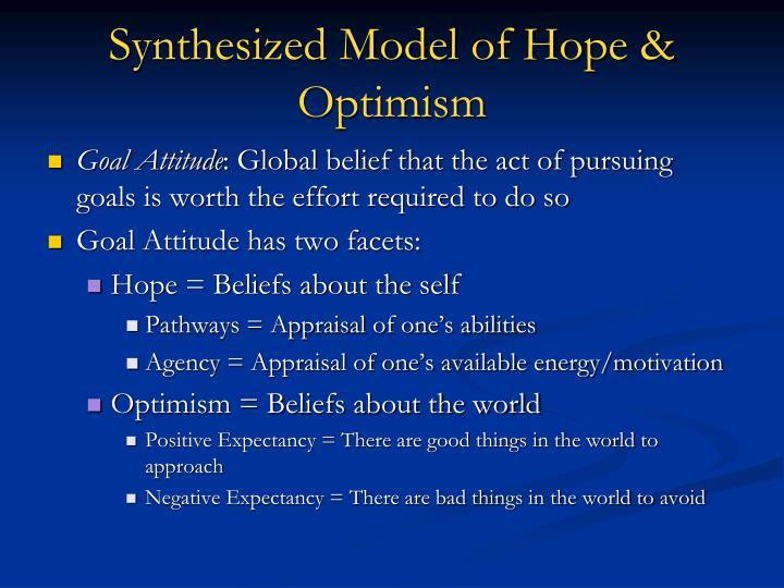 Synthesized Model of Hope & Optimism
