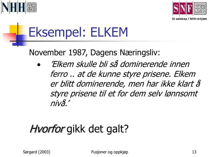 Eksempel: ELKEM