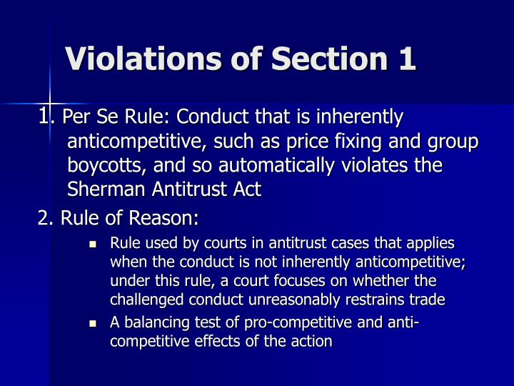 the violation of sherman act kodak The antitrust laws are complicated, and an inadvertent violation can occur easily the four principal federal antitrust laws are the sherman act, the clayton act, the robinson-patman act and the federal trade commission act.
