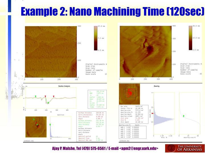 Example 2: Nano Machining Time (120sec)