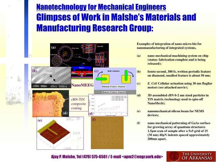 Nanotechnology for Mechanical Engineers