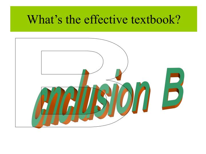 What's the effective textbook?