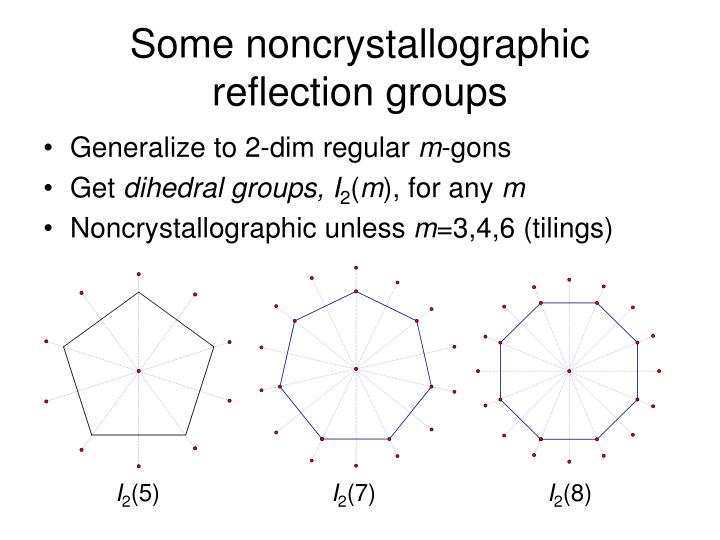 Some noncrystallographic reflection groups