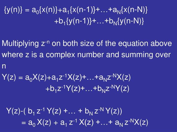 {y(n)} = a