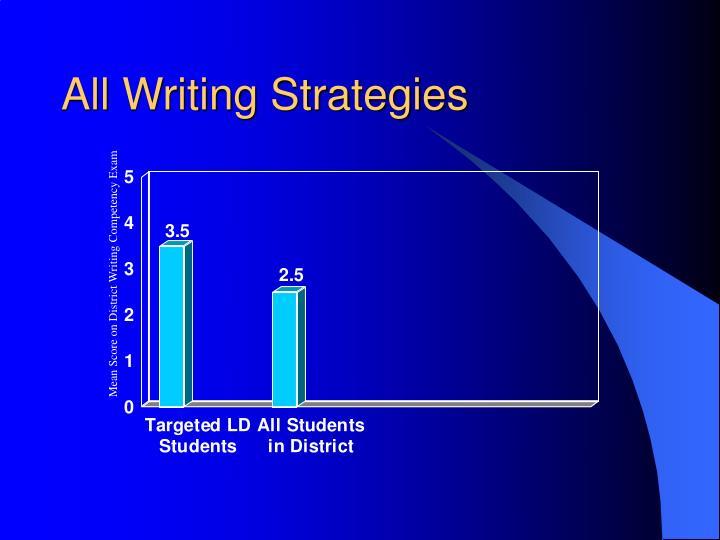 All Writing Strategies