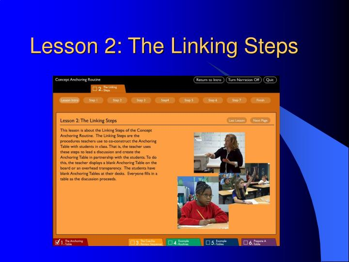 Lesson 2: The Linking Steps