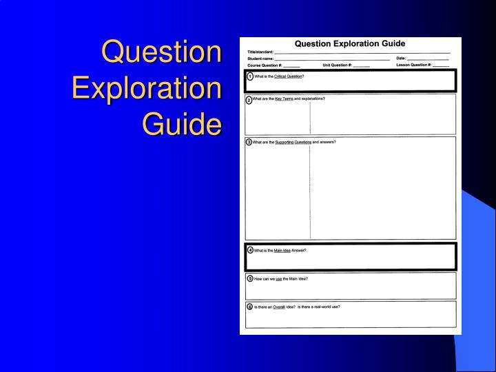 Question Exploration Guide