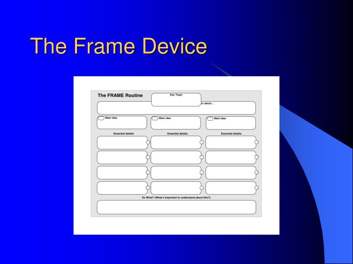 The Frame Device
