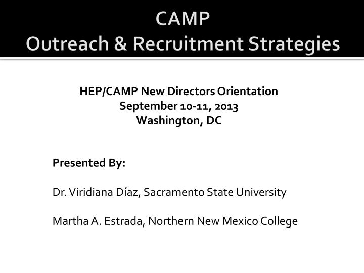 Camp outreach recruitment strategies