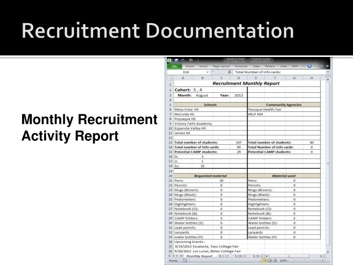 Recruitment Documentation