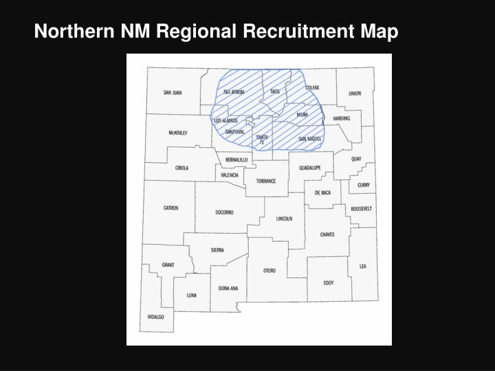 Northern NM Regional Recruitment Map